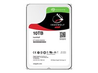 "Seagate IronWolf ST10000VN0004 - Disque dur - 10 To - interne - 3.5"" - SATA 6Gb/s - 7200 tours/min - mémoire tampon : 256 Mo ST10000VN0004"