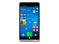 "HP Elite x3 - Téléphone intelligent Windows - double SIM - 4G LTE Advanced - 64 Go - microSDXC slot - GSM - 5.96"" - 2560 x 1440 pixels - AMOLED - 16 MP (caméra avant 8 MP) - Windows 10 - HP Graphite Y1M44EA#ABF"